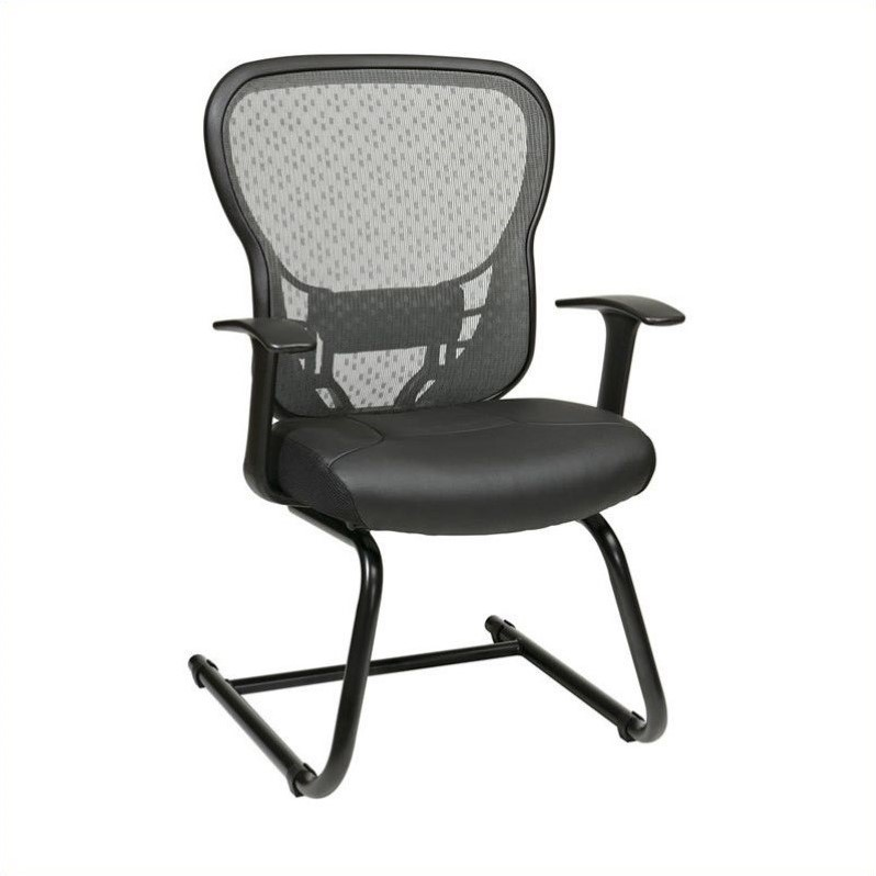 Office Star 529 Series SpaceGrid Back Guest Reception Waiting Room Chair with Fixed Arms