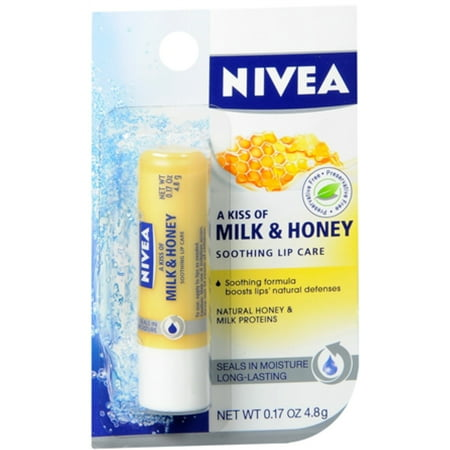 NIVEA A Kiss of Milk & Honey Natural Defense & Soothing Lip Care 0.17 oz (Pack of 6) - Ninja Makeup Halloween