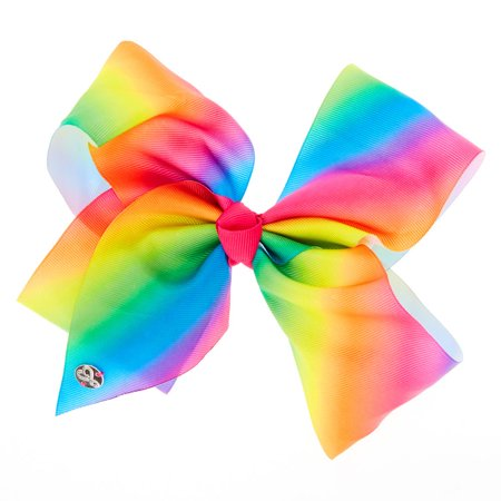 Large Cheer Hair Bow (Rainbow) - Halloween Cheer Bows