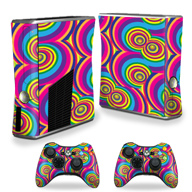 MightySkins Protective Vinyl Skin Decal for Xbox 360 S Slim + 2 controllers Case wrap... by MightySkins