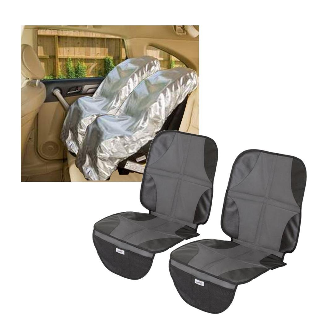 Mommy's Helper Car Seat Sun Shade with Car Seat Mat, Set of 2 by Mommy%27s Helper