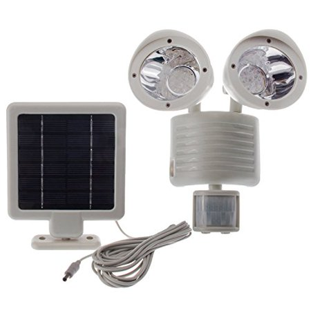 Motion Detector Spotlight (Solar Powered Motion Sensor Light 22 LED Garage Outdoor Security Flood Spot Light White )