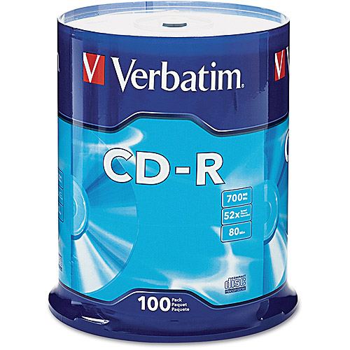Verbatim 700MB 52X CD-R 100 Packs Cake Box Disc