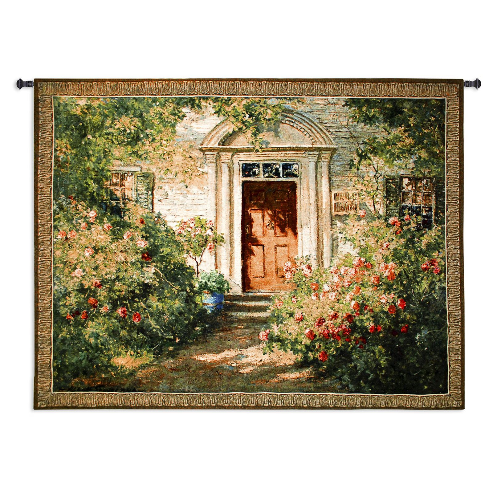 Fine Art Tapestries Grandmas Doorway Wall Tapestry by Pure Country Weavers