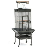 "62"" Yaheetech Wrought Iron Bird Cage w/ Stand for Parrot, Macaw & Cockatoo"