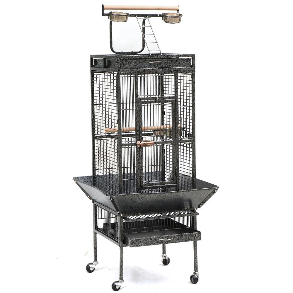 """62"""" Yaheetech Wrought Iron Bird Cage w/ Stand for Parrot, Macaw & Cockatoo"""