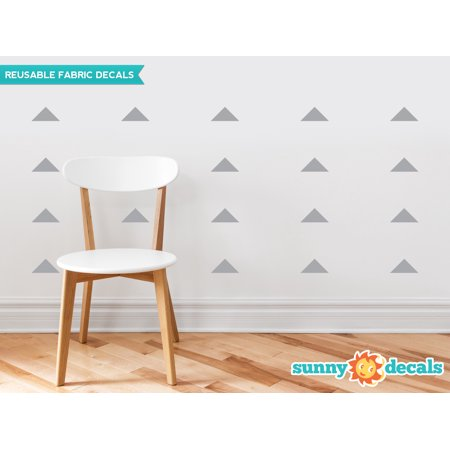Wide Triangle Fabric Wall Decals - Set of 48 Wide Triangles - 19 Color Options-Grey/