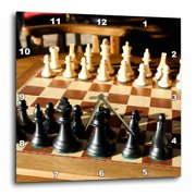 3dRose Argentina, El Calafate, Chess board, game - SA01 MME0236 - Michele Molinari, Wall Clock, 10 by 10-inch