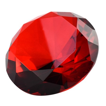 Big 100mm Ruby Red Glass Crystal Giant Diamond Jewel