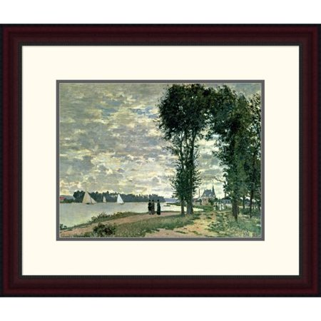 Global Gallery The Banks Of The Seine At Argenteuil By Claude Monet Framed Painting Print