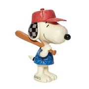 "Enesco Jim Shore Mini Snoopy Baseball Figurine 3.25"""