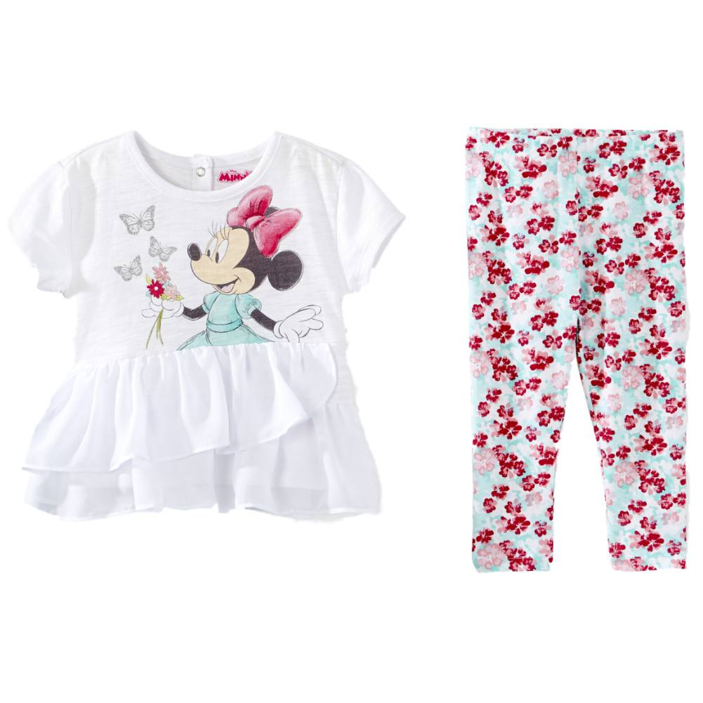 Disney Disney Infant Girls Minnie Mouse Baby Outfit Flowy Shirt