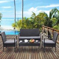 Costway 4-Piece Outdoor Patio Rattan Wicker Furniture Set + $8.80 Credit