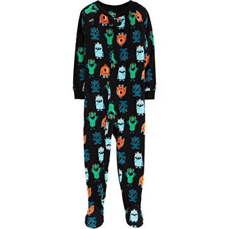 Girls Animal Print Onesie (Toddler Baby Boys Girls Footed Blanket Sleeper Pajamas Animals Pig Cat Owl Monster (Monsters,)