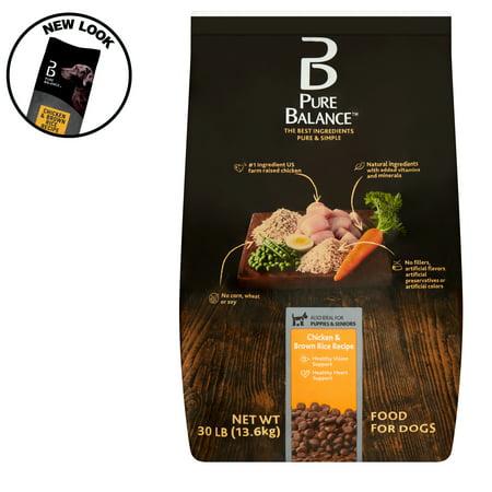 Pure Balance Chicken & Brown Rice Recipe Dry Dog Food, 30 lb Dog Food No Chicken