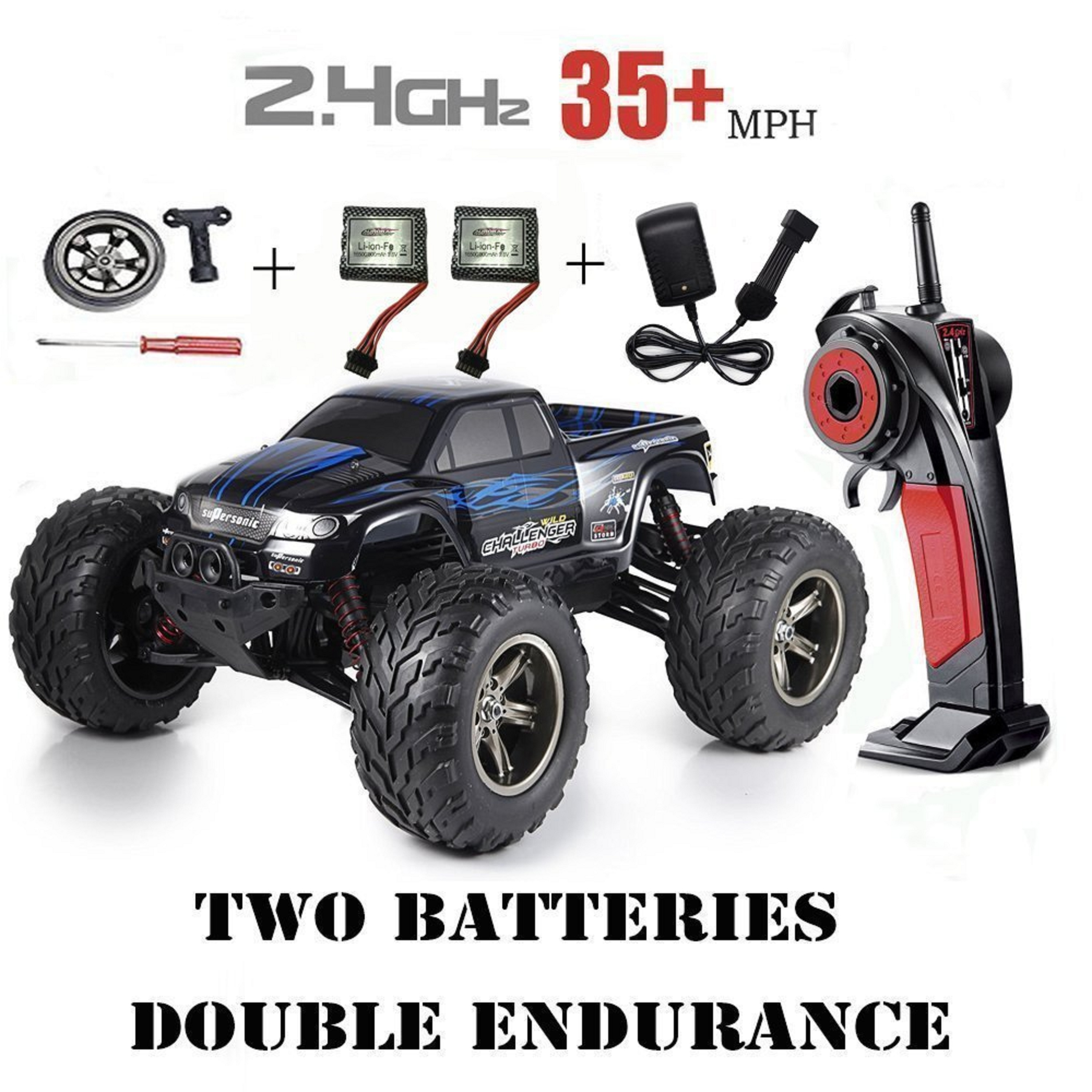 Red-kid 1 12 Scale 2.4Ghz Radio Controlled 2WD Off road Drift Cars 33+MP h With 2 batteries Blue by Red-kid