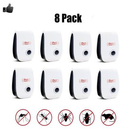 8 Pack Ultrasonic Pest Repeller, Spider Repellent Indoor Best Electronic Plug Pest Reject Control Mosquito Cockroach Mouse Killer Repeller to Repel Insects Mice Spider Ant Roaches Bugs (Best Mosquito Repellent Reviews)