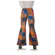 70S Patchwork Womens Adult Disco Costume Bell Bottoms Pants