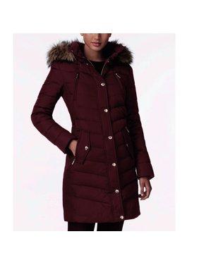 c49b463e7b3849 Product Image Michael Kors Faux-Fur-Trim Down Coat