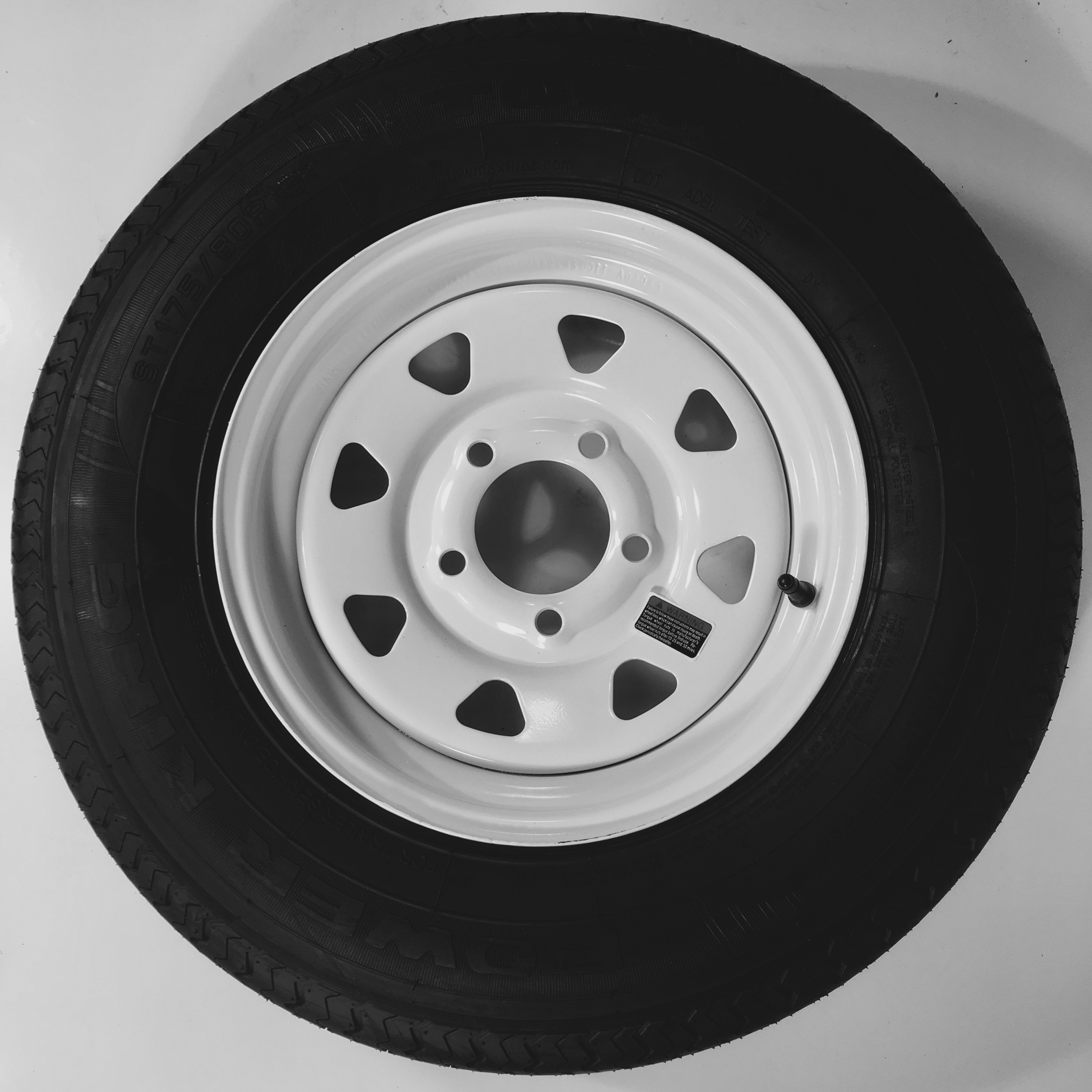 eCustomrim Radial Trailer Tire & Rim ST175/80R13 Load C 5...