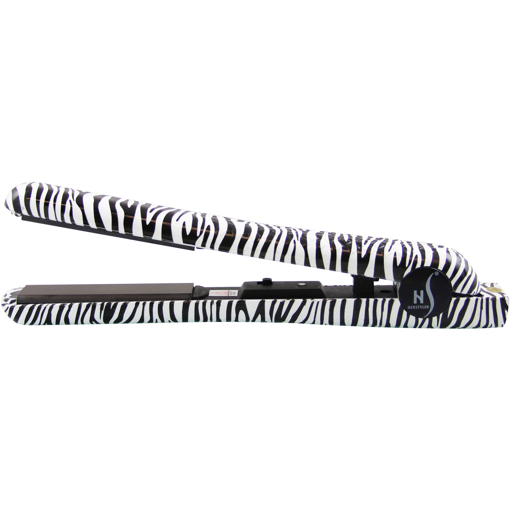 HerStyler Hair Straightener, White Zebra