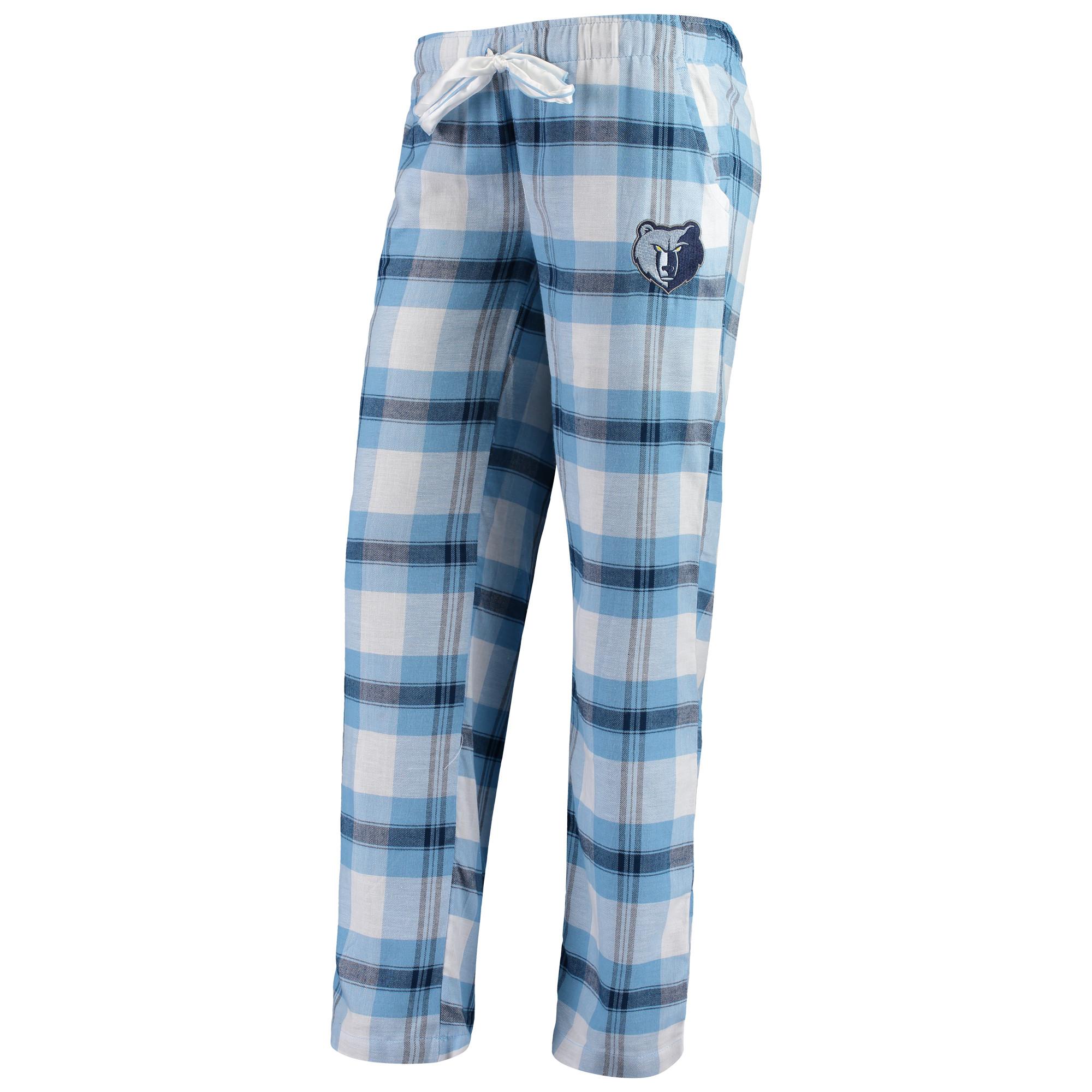 Memphis Grizzlies Concepts Sport Women's Headway Flannel Pants - Light Blue/Navy