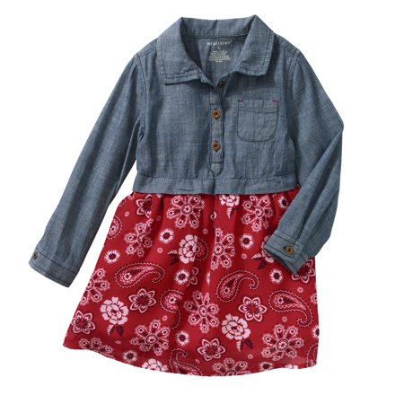 Healthtex Toddler Girl Chambray And Chiffon Dress