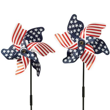 Patriotic Pinwheel - Set of 2 (Patriotic Pinwheels)