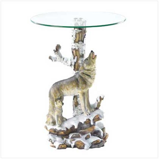 SWM 37918 Wolf Table with Glass Tabletop