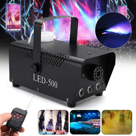 LED Fog Machine,YMIKO 500W RGB LED Fog Machine Remote Control Stage Fogger Smoke Maker Kit US Plug, RGB LED Fogger, RGB Fog Machine - Smoke Mechine
