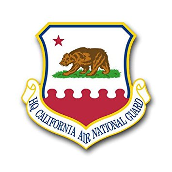 MAGNET US Air Force Headquarters California Air National Guard Decal Magnetic Sticker 3.8