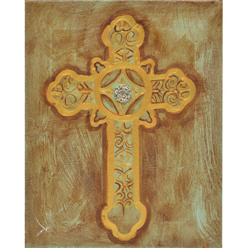 Thompson and Elm Glorious Cross Painting Print on Canvas