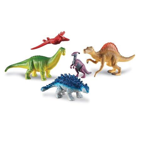 Learning Resources Jumbo Dinosaurs Expanded Set I Apatosaurus, Spinosaurus, Pteranodon, Ankylosaurus, and Parasaurolophus I Set of 5