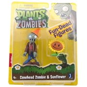 "Plants Vs. Zombies 3"" Figure Conehead Zombie With Sunflower"
