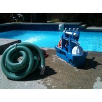Canvas Print Cleaning Vacuum Machine Pool Cleaning Pool Service Stretched Canvas 10 x 14