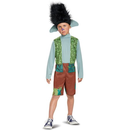 Troll Wig Costume (Disguise Trolls Branch Child Costume with Wig (Branch, Small)