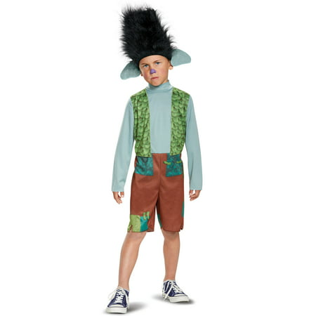 Disguise Trolls Branch Child Costume with Wig (Branch, Small (4-6))](Trollz Costume)