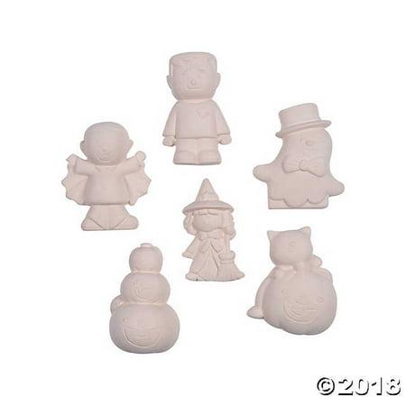 DIY Ceramic Halloween Characters(pack of 2) (52 Outdoor Diy Decor Ideas For Halloween)