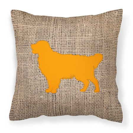 Carolines Treasures Golden Retriever Burlap Square Decorative Outdoor Pillow (Golden Retriever Pillow)