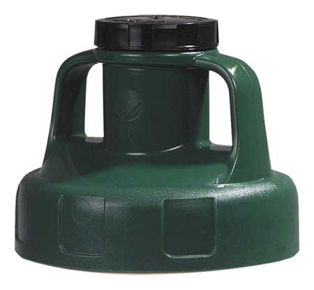 Utility Lid,w/2 In Outlet,HDPE,Dk Green OIL SAFE 100203