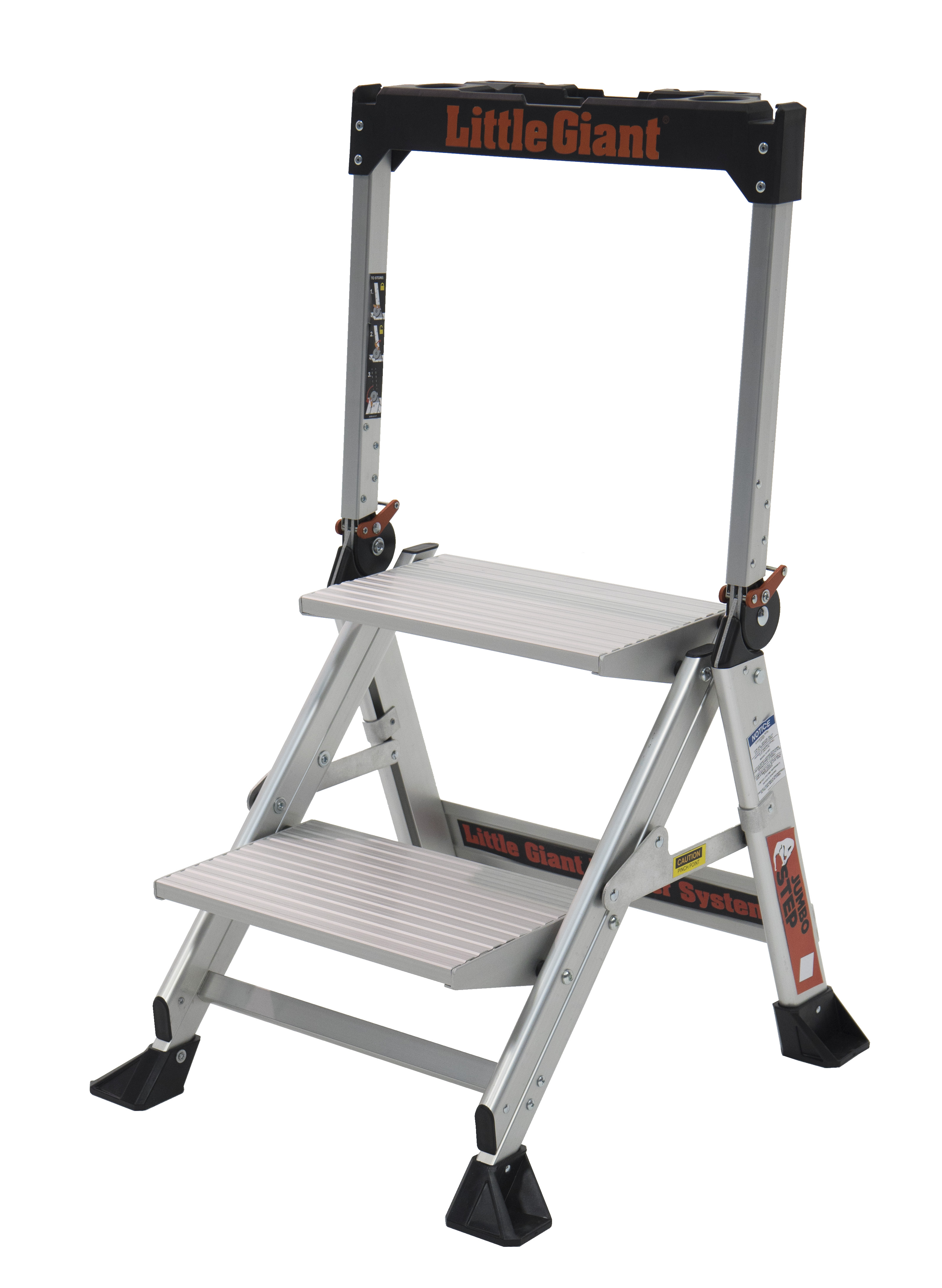 Little Giant Jumbo Step, Model 2 step, 375 lbs capacity rated, aluminum stepstool by Wing Enterprises, Inc.