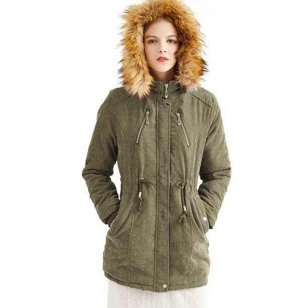 Ladies Hooded Parka Jackets