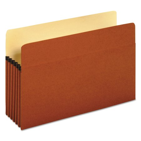 Universal 5 1/4 Inch Expansion File Pockets, Straight, Legal, Redrope/Manila, 10/Box -UNV15363