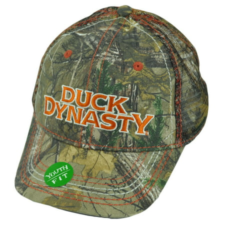 A&E Tv Series Duck Dynasty Realtree Youth Mesh Camouflage Slouch Hat Cap thumbnail