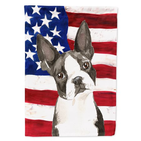 - Patriotic USA Boston Terrier Flag Canvas House Size