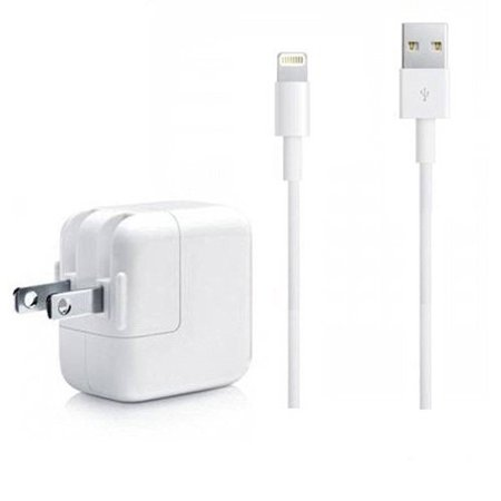 (iPad Charger, iPhone Charger, 2.4A 12W USB Wall Portable Travel Plug and 6Feet Lightning Cable for iPhone X/8/8Plus/7/7Plus/6s/6sPlus/6/6Plus/SE/5s/5/5c/iPad 4/Mini/Air/Pro/iPod Bundle Pack)