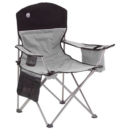 Coleman Portable Camping Quad Chair with 4-Can (Insulated Cooler Chair)