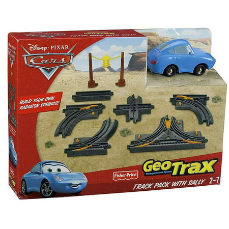 Geotrax Lights - Disney Cars GeoTrax Track Pack With Sally GeoTrax Playset