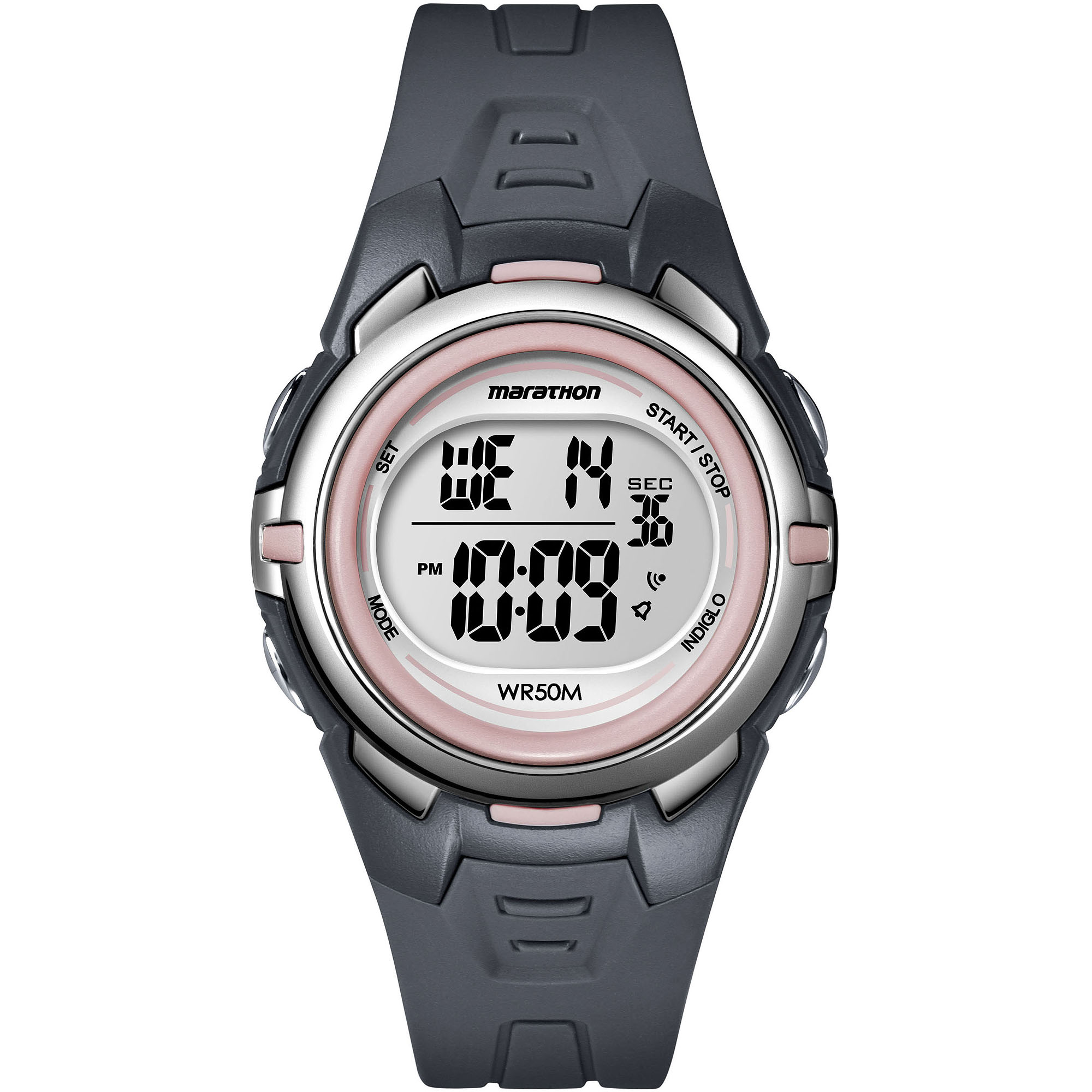 Marathon by Timex Women's Digital Mid-Size Watch, Dark Gray Resin Strap
