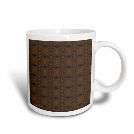 3dRose Moroccan Night Abstract Pattern Geometric Textile - Ceramic Mug, 15-ounce